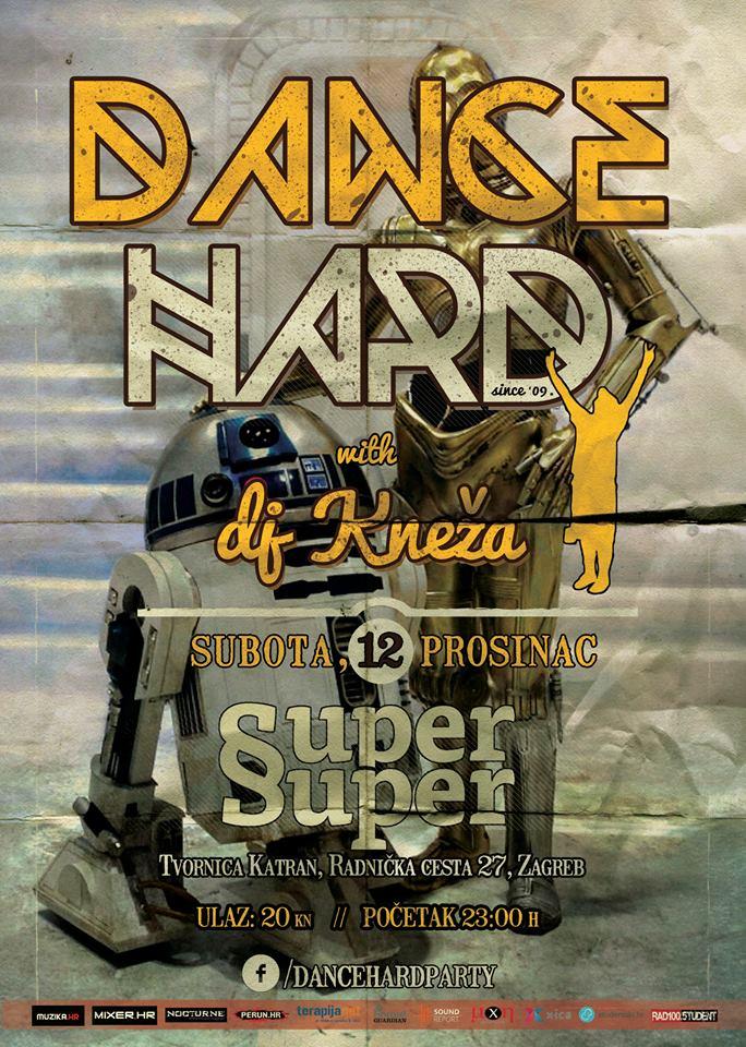 Dance Hard - 12.12.2015. - plakat