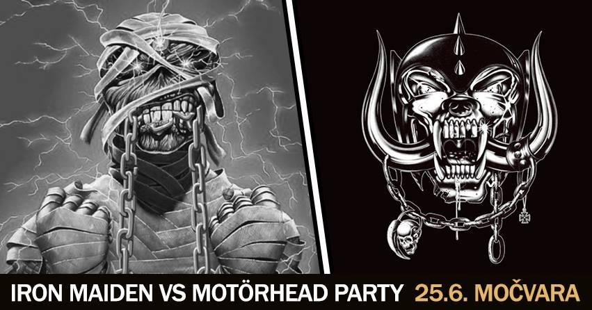Iron Maiden vs. Motörhead party - 25.06.2016. - flyer
